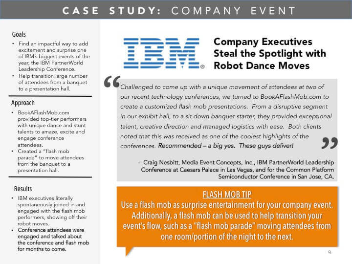 IBM Case Study with BookAFlashMob.com