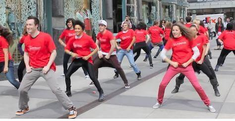 Clarins Advertising Flash Mob by BookAFlashMob.com